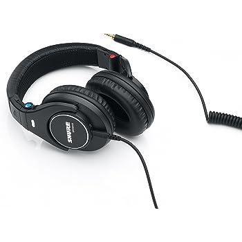 Shure SRH840, geschlossener Kopfhörer / Over-ear, Premium, Referenz-/Studiokopfhörer, geräuschunterdrückend, faltbar, Kabel austauschbar, Frequenzgang (Bässe, Mitten, Höhen) präzise angepasst, Schwarz