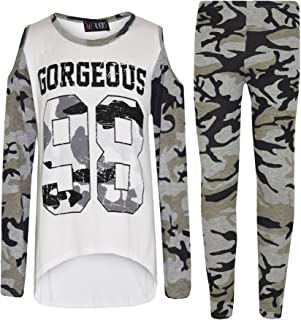 IKKS Junior Girls Blouse Ouverture Dos Imprime Camouflage