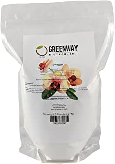 """Gypsum Powder Calcium Sulfate 100% Water Soluble""""Greenway Biotech Brand"""" 5 Pounds"""