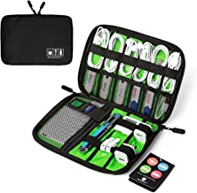 BAGSMART Electronic Organizer Travel Cable Organizer Portable Electronics Accessories Bag for Cords, USB, Black