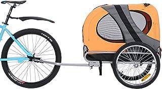 Leonpets mascotas Remolque de bicicleta Perros Carro Transporter con acoplamiento universal naranja nuevo 10117