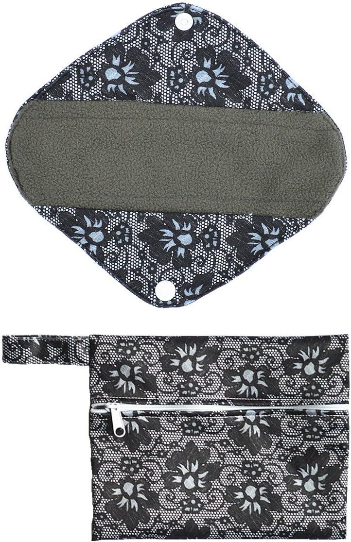 2pcs Set Max 58% OFF Mini Wet Bag + 8 Cloth Charcoal Menstr Inch Mama Fashionable Bamboo