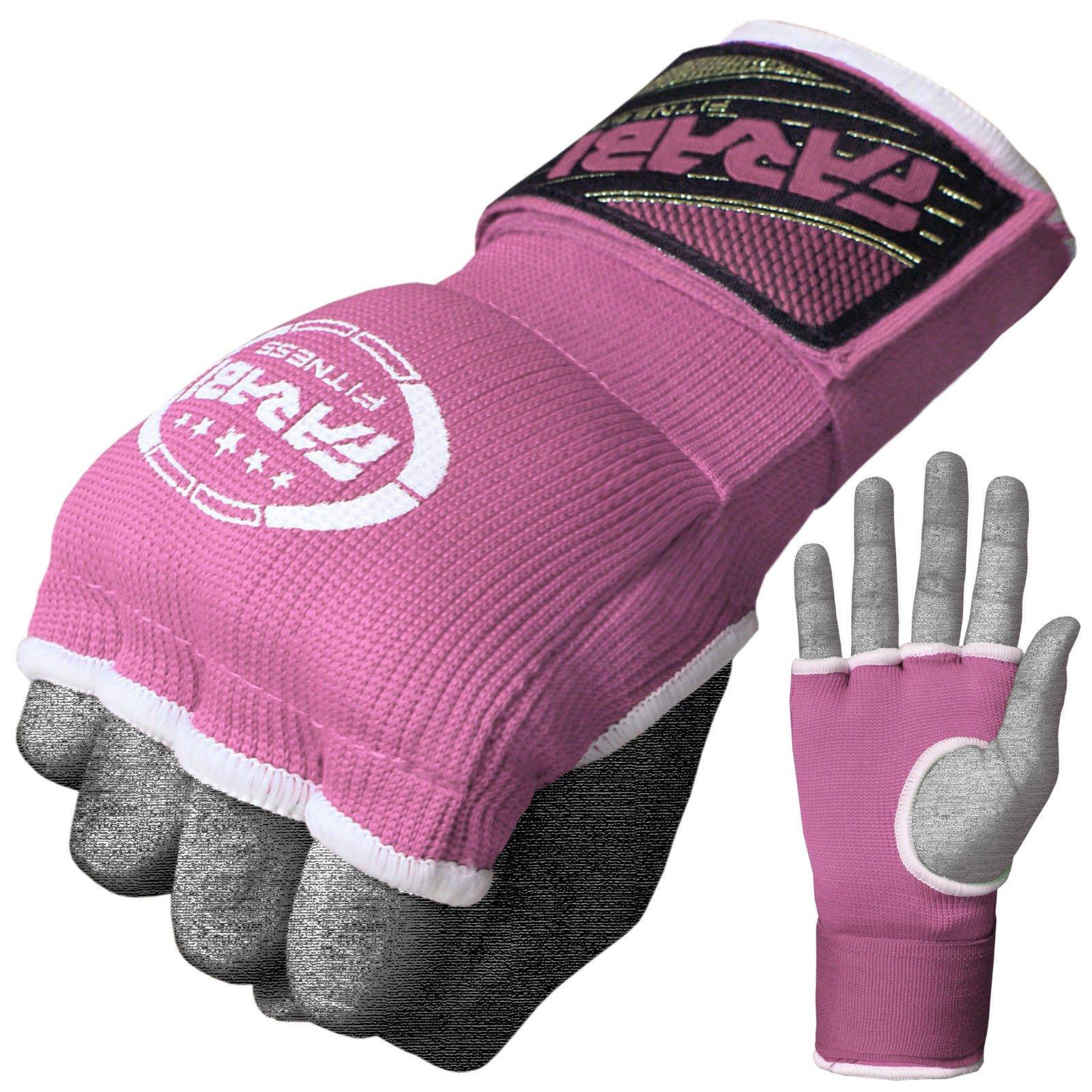 Vendas de mano, de Farabi, para niños, con gel interior; para boxeo, Muay Thai, MMA, gimnasio, color rosa, tamaño infantil: Amazon.es: Deportes y aire libre