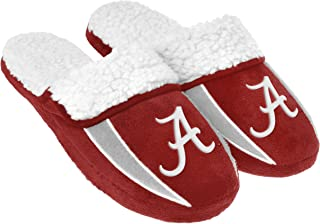 FOCO NCAA Mens College Team Logo Sherpa Slide Slippers