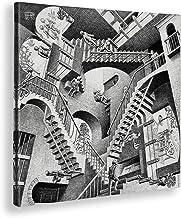 Giallobus - Schilderij - Afdrukken op Canvas - M.C. Escher - Relativiteit - 100 X 100 Cm