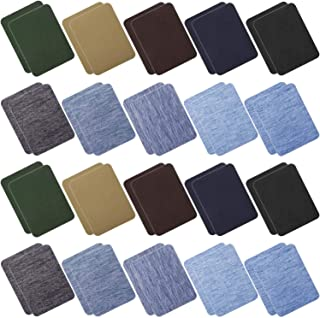Anezus 40 Pcs Iron on Patches for Jeans, Denim Jean Patches for Clothing Repair, Inside Jeans, 20 Colors (4.9