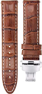 20MM PREMIUM LEATHER WATCH STRAP BAND FOR 40MM ROLEX SUBMARINER GMT L/BROWN WS