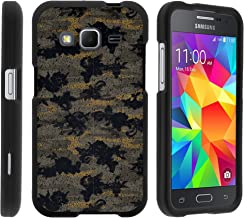 MINITURTLE Case Compatible w/ Samsung Core Prime Case, Armor Snap On Hard Case Protector Cover w/ Customized Design for Samsung Galaxy Core Prime G360 (Boost Mobile) Ancient Camouflage