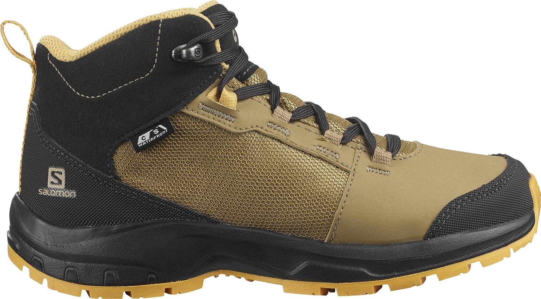 Salomon Outward CSWP J Trail Running Shoe, Safari/Phantom/Warm Apricot