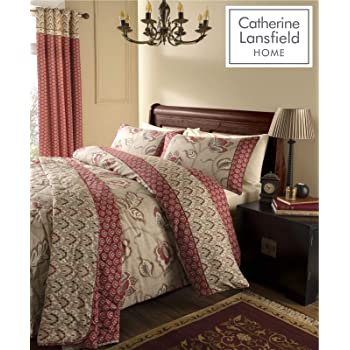 Catherine Lansfield Duvet Set Bedding Pillowcase Kasmir Multi Curtains Bedspread