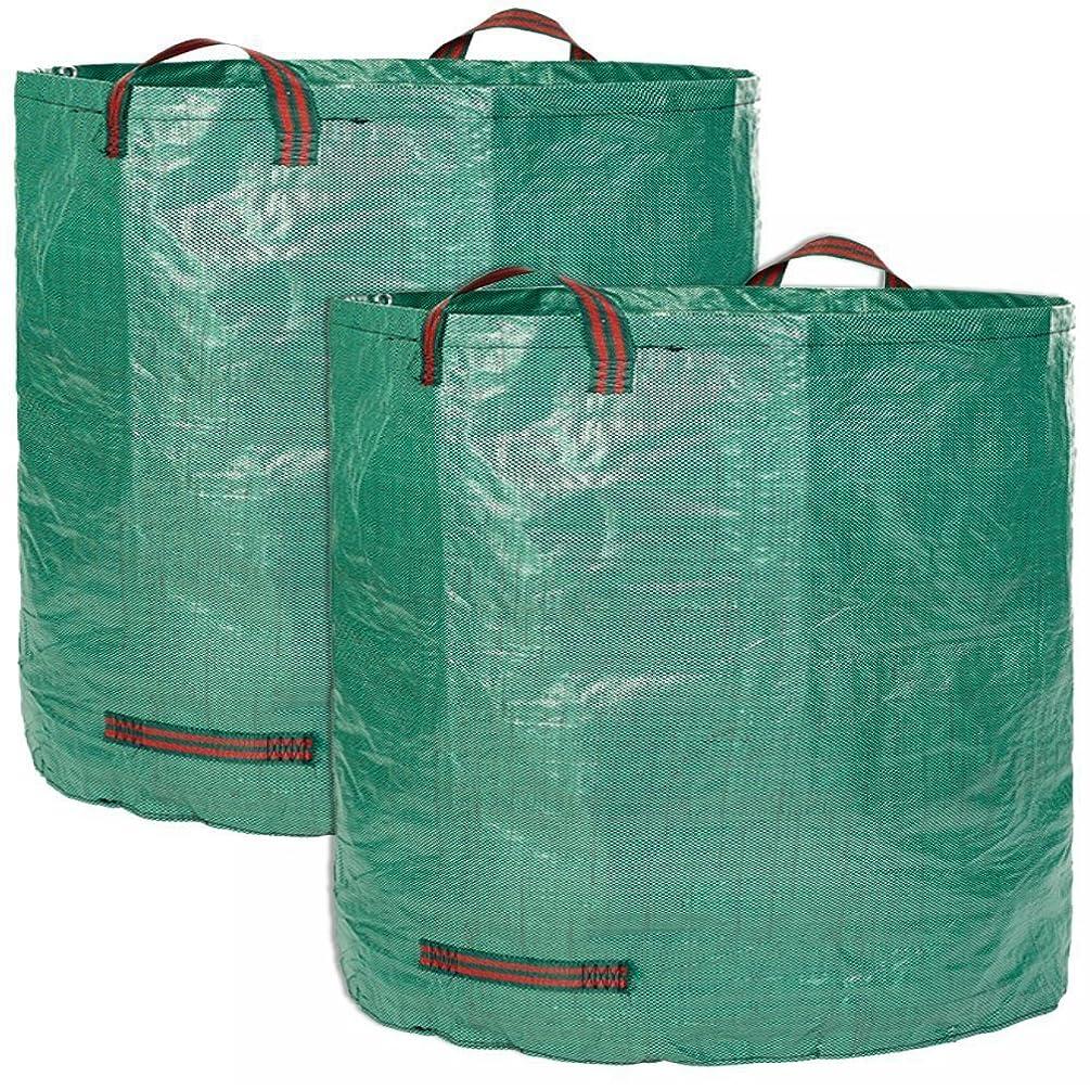 運動恩赦聖人自立式 ガーデンバケツ ガーデン落葉式貯蔵バッグ再利用可能な折り畳み式ゴミ袋PPガーデンゴミ袋 大容量