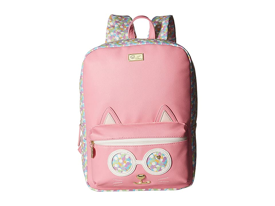 Luv Betsey Poppy Kitch PVC Kat Backpack (Confetti) Backpack Bags