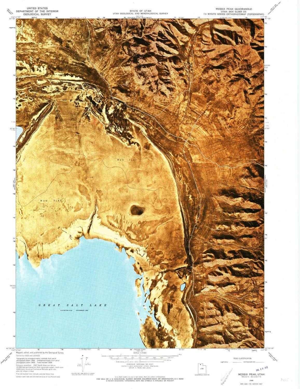 Phoenix Mall YellowMaps Messix Peak UT topo map Scale X Max 69% OFF 7.5 Min 1:24000