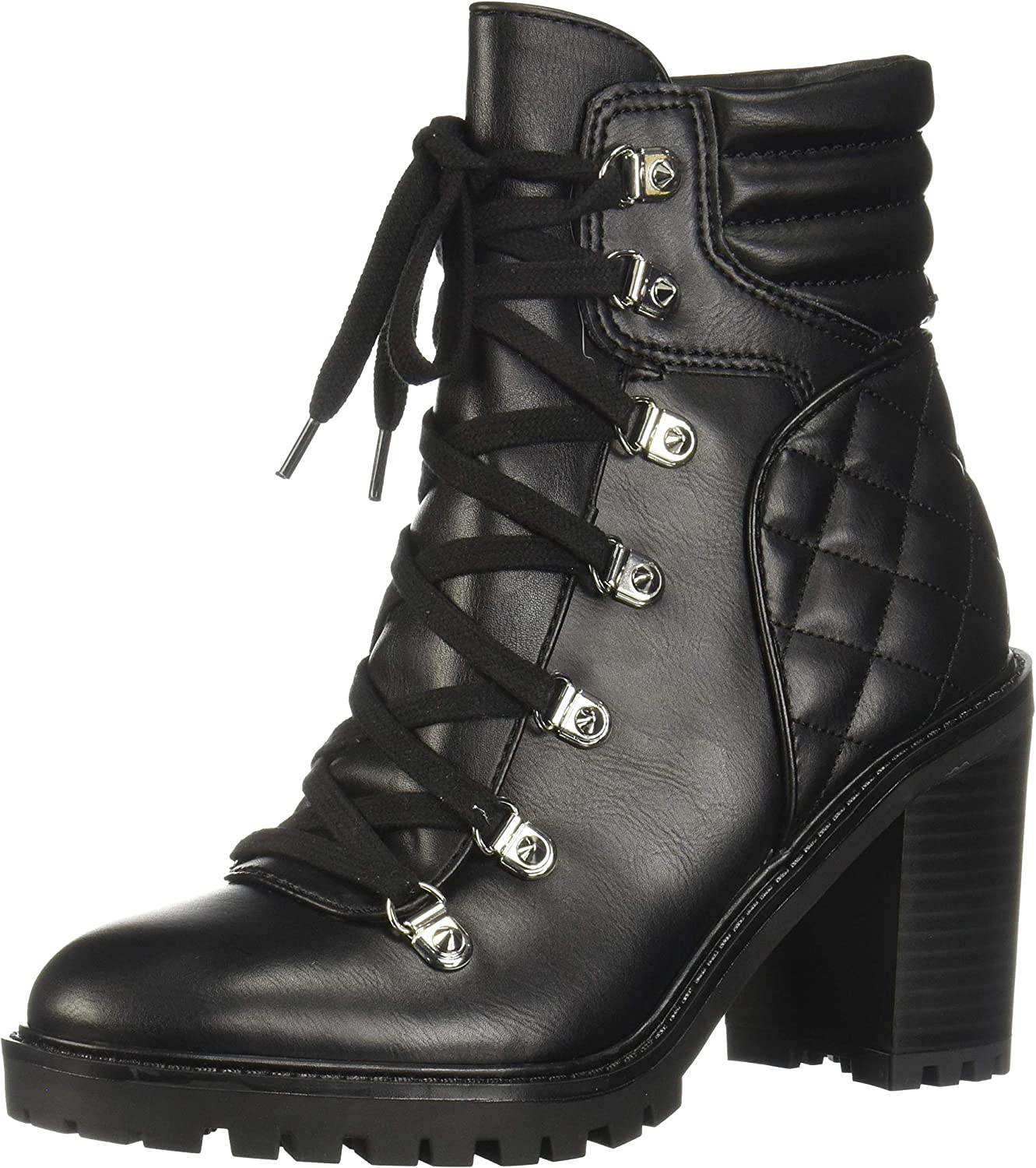 GUESS Women's Geegee Quilted Faux-Leather Booties