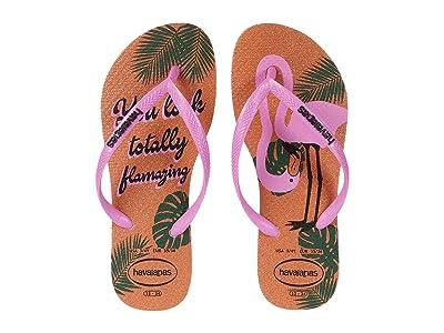 Havaianas Kids Slim Glitter Flip-Flop (Little Kid/Big Kid) (Ballet Rose) Girls Shoes