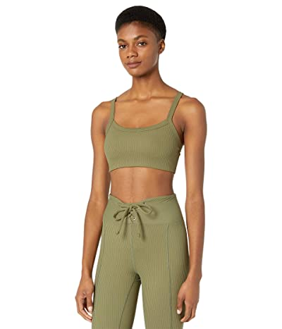 YEAR OF OURS Ribbed 2.0 Bralette (Olive) Women