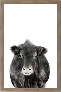 "Petal Lane Framed Magnet Board - Farm Animal ""Cow"" Home Decor (12x18)"