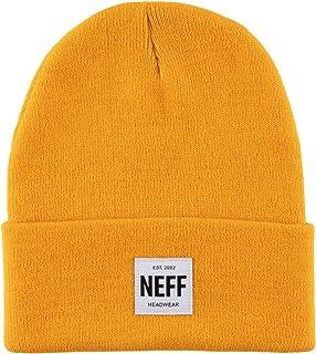 قبعات الرأس الشتوية للرجال من NEFF قبعات فيزور ، ذهبية ، مقاس واحد