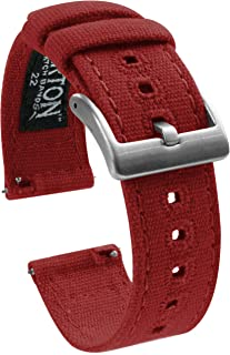 Canvas Quick Release Watch Straps - Choose Color & Width - 18mm, 19mm, 20mm, 21mm, 22mm, or 23mm