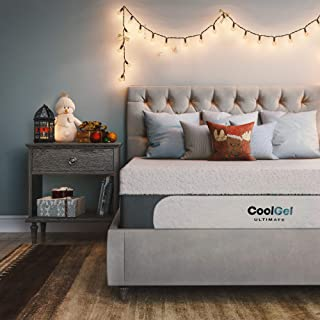 Classic Brands Cool Gel 1.0 Ultimate Gel Memory Foam 14-Inch Mattress with BONUS 2 Pillows, California King