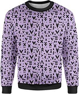 Rainbow Rules Inked Geometric Symbols Mens Sweatshirt