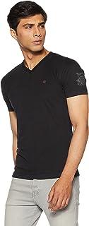 John Players Men's Solid Slim Fit T-Shirt