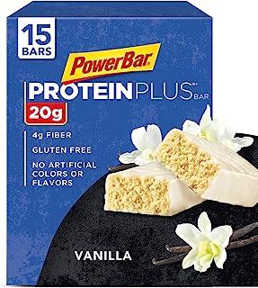 Sponsored Ad - PowerBar Protein Plus Bar, Vanilla, 2.11 Ounce (15 Bars)