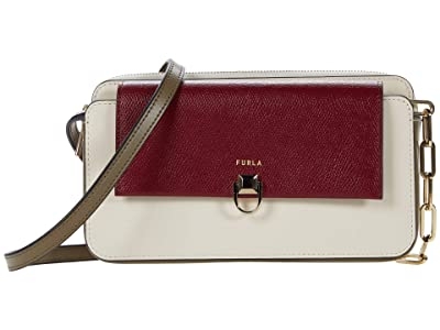 Furla Miss Mimi Mini Crossbody (Ciliegia/Pergamena/Fango) Handbags
