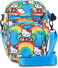 JuJuBe x Hello Kitty Mini Helix Multi-Functional Diaper Bag   Converts to Lightweight Crossbody Purse or Compartment Messenger Bag, Travel-Friendly   Hello Rainbow