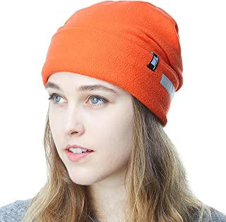 c32385b6a74a1 THE HAT DEPOT Fleece Winter Beanie Hat Cold Weather Reflective Safety for  Men   Women Performance