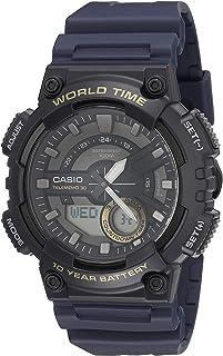 كاسيو ستاندرد للرجال- ساعة انالوج-رقمية بسوار راتنج- AEQ-110W-2AV