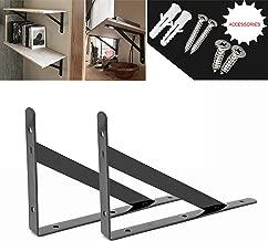 Heavy Duty Shelf Brackets Floating Shelves Tripod Triangle Shelf Bracket Corner Brace Support Wall Hanging (Black) 8 inch by OVOV