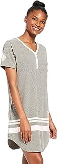 Womens Flannel Cotton Plaid Button Down Dormshirt Pajamas
