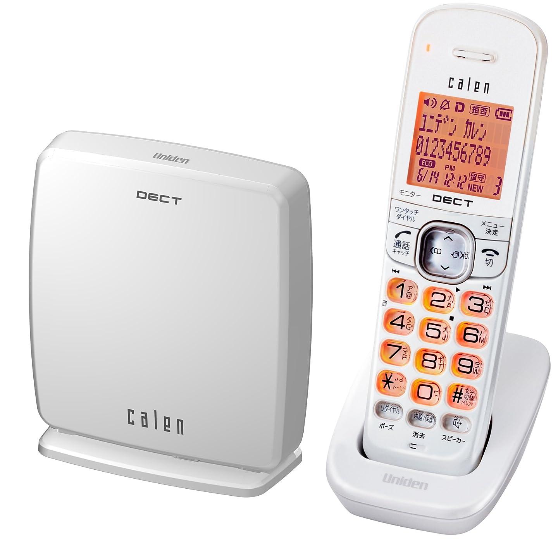毒メジャー氏Uniden DECT方式デジタルコードレス留守番電話機子機1台タイプ パールホワイト DECT2570(W)