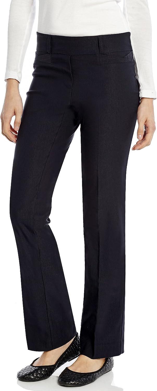 Leveret Women's Pants Stretchable Slight Boot Cut Comfort Pants Pull On (Size 418)