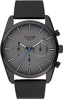 s.Oliver - Reloj de Cuarzo para Hombre con Correa de Piel