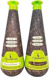 Macadamia Natural Oil Moisturizing Rinse and Rejuvenating Shampoo 33.8oz Bundle