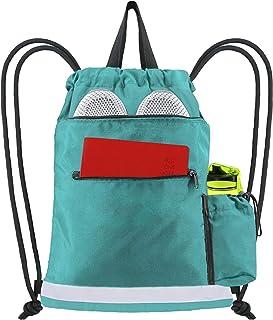 الرباط حقيبة الظهر قابل للغسل خيط معدات الرياضة تخزين الحقائب شاطئ السفر الصالة الرياضية التخييم تجريب جير 11