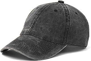 AOSMI التطريز خمر غسل الدنيم منخفضة المستوى القطن عادي قبعة بيسبول للرجال والنساء، مشبك إغلاق سائق شاحنة قبعة