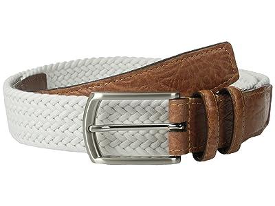 Torino Leather Co. 32MM Italian Woven Multi Cotton Elastic (White) Men