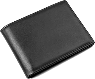 Leather Travel Wallet- RFID blocking wallet with multiple ID windows Men's Wallet in Large Capacity