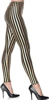 Women's Gold Striped Leggings