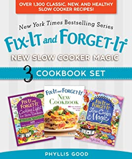 Fix-It and Forget-It New Slow Cooker Magic Box Set: Over 1,300 Classic, New, and Healthy Slow Cooker Recipes