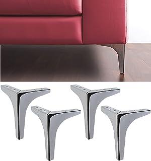 IPEA Lot de 4 Pieds pour canapés, Meubles, armoires, fauteuils modèle Meta - Lot de 4 Pieds en Fer pour ameublement - Desi...