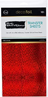 THERMOWEB Deco Foil by Brutus Monroe 6 x 12 RED Static (10 Sheets per Pack), one Size