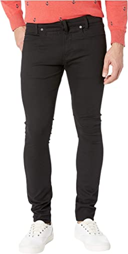 D-Staq Five-Pocket Skinny in Ita Black Super Stretch Rinsed