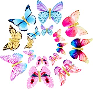 Gejoy 16 Pieces Butterfly Clips Baby Hair Clips Butterfly Glitter Barrette for Women Girl and Infant (Style 2)