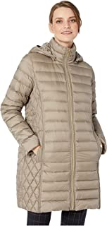 Michael Michael Kors Women's Zip Front 3/4 Packable with Hood M823687G32