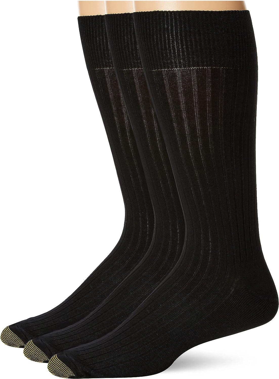 Gold Toe Men's Classic Canterbury Crew Socks, Multipack, 2 Pack 6 Pairs