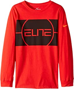 Nike Kids - Dry Elite Long Sleeve Basketball T-Shirt (Little Kids/Big Kids)